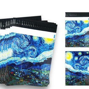 """50 Pack Poly Mailers, 10"""" X 13"""" Starry Night"""
